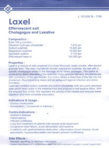Laxel Effervescent salt- Cholagogue and Laxative