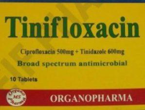 Tinifloxacin film coated tablets: Ciprofloxacin/Tinidazole Combination