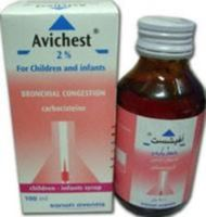 AVICHEST 100 mg pediatric &  250 mg adult syrup … Mucolytic